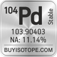 104pd isotope 104pd enriched 104pd abundance 104pd atomic mass 104pd