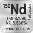 150nd isotope 150nd enriched 150nd abundance 150nd atomic mass 150nd