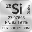 28si isotope 28si enriched 28si abundance 28si atomic mass 28si