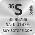 36s isotope 36s enriched 36s abundance 36s atomic mass 36s