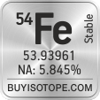 54fe isotope 54fe enriched 54fe abundance 54fe atomic mass 54fe