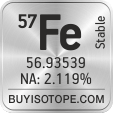 57fe isotope 57fe enriched 57fe abundance 57fe atomic mass 57fe