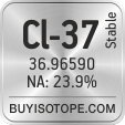 cl-37 isotope cl-37 enriched cl-37 abundance cl-37 atomic mass cl-37