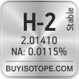 h-2 isotope h-2 enriched h-2 abundance h-2 atomic mass h-2
