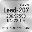 lead-207 isotope lead-207 enriched lead-207 abundance lead-207 atomic mass lead-207