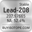 lead-208 isotope lead-208 enriched lead-208 abundance lead-208 atomic mass lead-208
