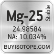 mg-25 isotope mg-25 enriched mg-25 abundance mg-25 atomic mass mg-25