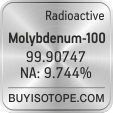 molybdenum-100 isotope molybdenum-100 enriched molybdenum-100 abundance molybdenum-100 atomic mass molybdenum-100