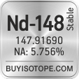 nd-148 isotope nd-148 enriched nd-148 abundance nd-148 atomic mass nd-148