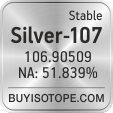 silver-107 isotope silver-107 enriched silver-107 abundance silver-107 atomic mass silver-107