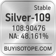 silver-109 isotope silver-109 enriched silver-109 abundance silver-109 atomic mass silver-109