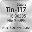 tin-117 isotope tin-117 enriched tin-117 abundance tin-117 atomic mass tin-117