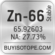 zn-66 isotope zn-66 enriched zn-66 abundance zn-66 atomic mass zn-66