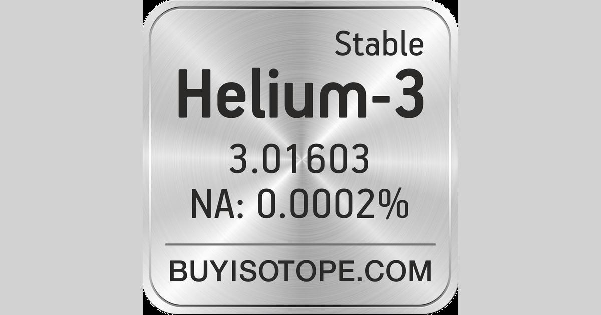 Helium-3, Helium-3 Isotope, Enriched Helium-3, Helium-3 Gas